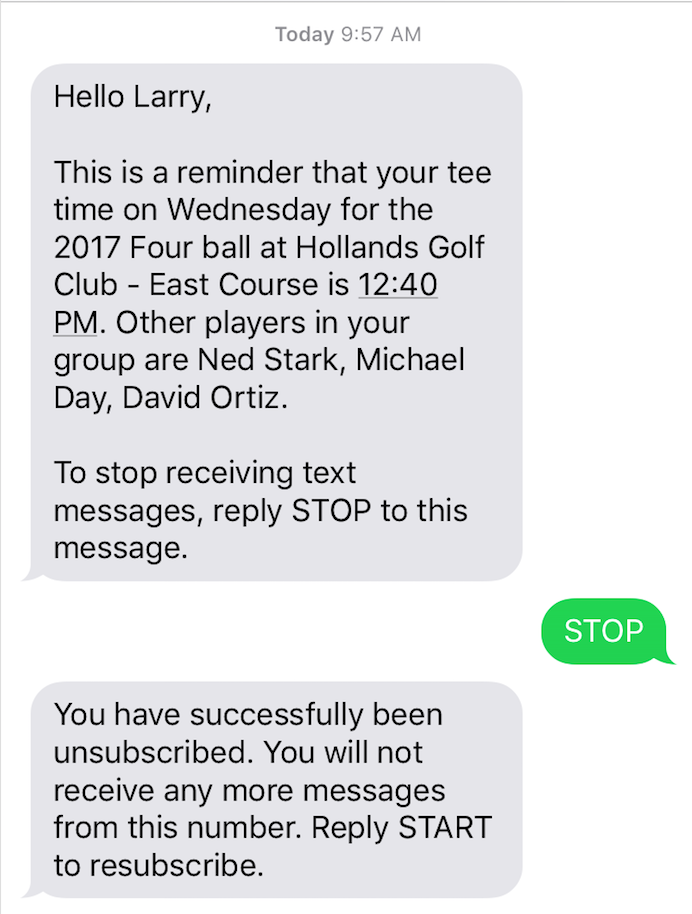 Messages not replying to The Top