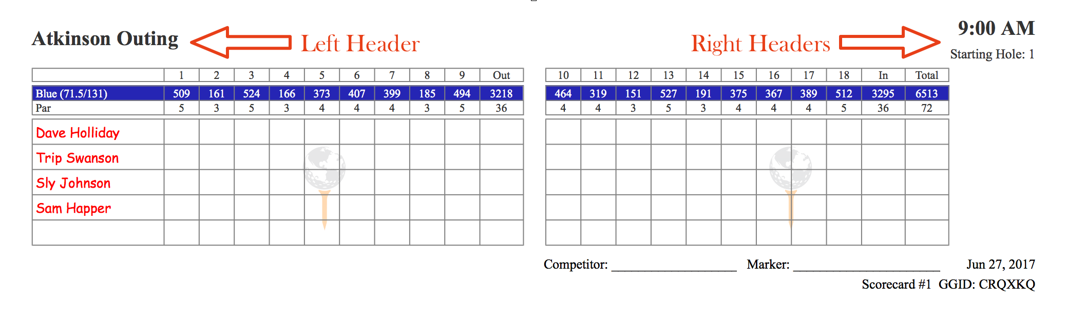 Golfgenius Printing Scorecards Format Tab