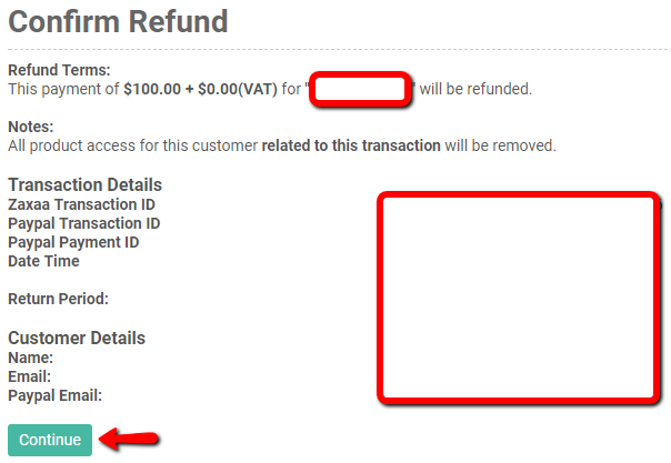 Zaxaa - How to refund your customer