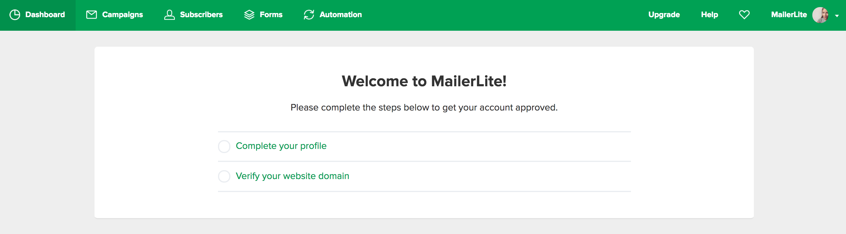 MailerLite - How to get approved