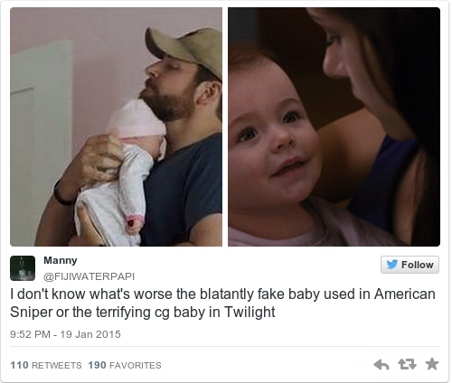 The internet is obsessed with the fake baby from American ...