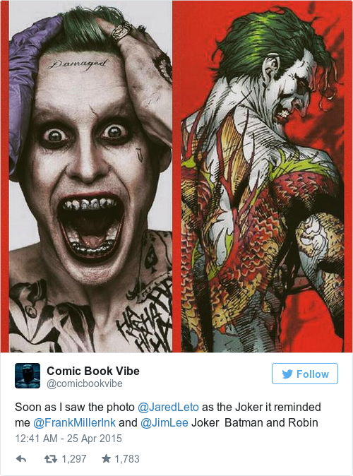 Joker Damaged Tattoo Png: The First Picture Of The New Joker Has Been Revealed And