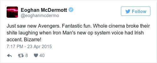 This line in Captain America: Civil War is tickling Irish audiences