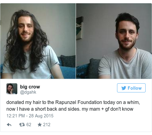 A Dundalk Lad Cut Off His Ridiculously Long Hair And The Reason Why Will Warm Your Heart