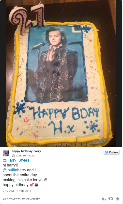 Harry Styles Turned 21 Today And 1d Fans Are Actually