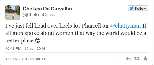 Here s what Pharrell Williams said about women that has Twitter swooning ca1d84c35e