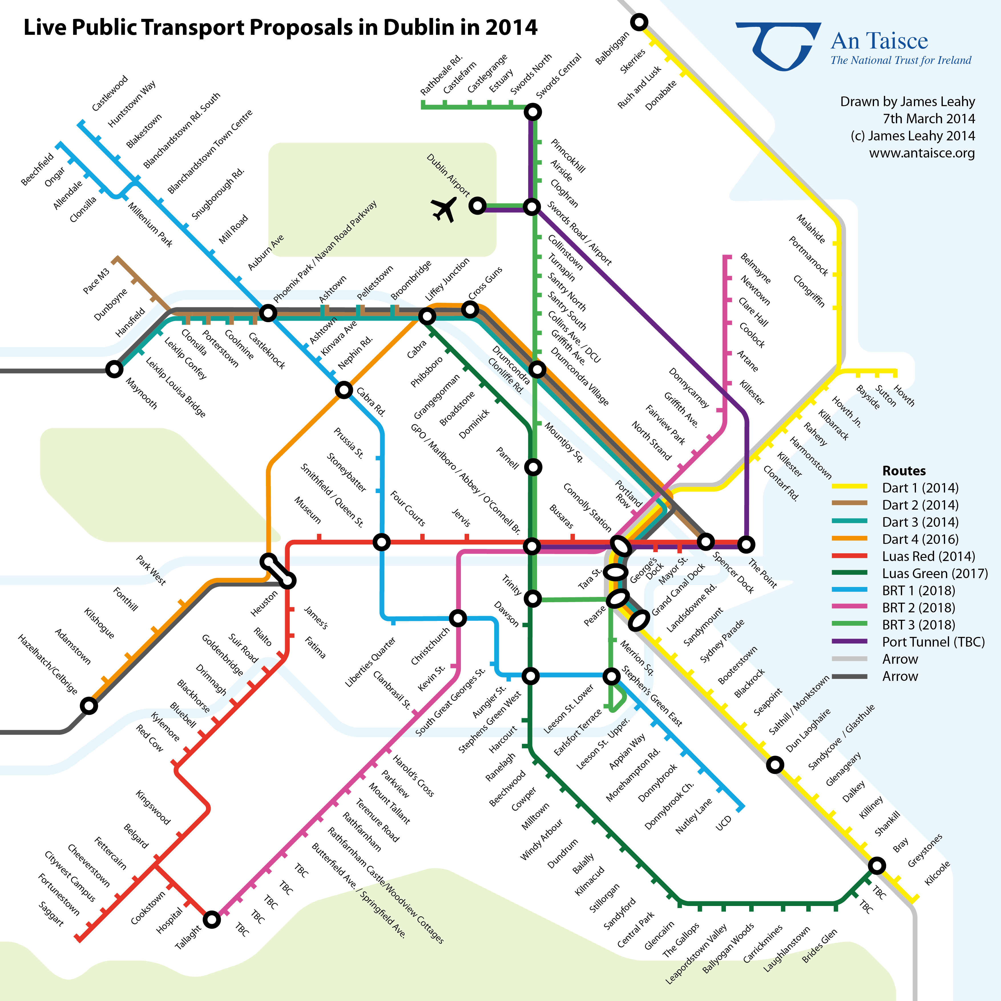 London Light Rail Map.London Tube Style Map Shows How Dublin Public Transport Will Link Up