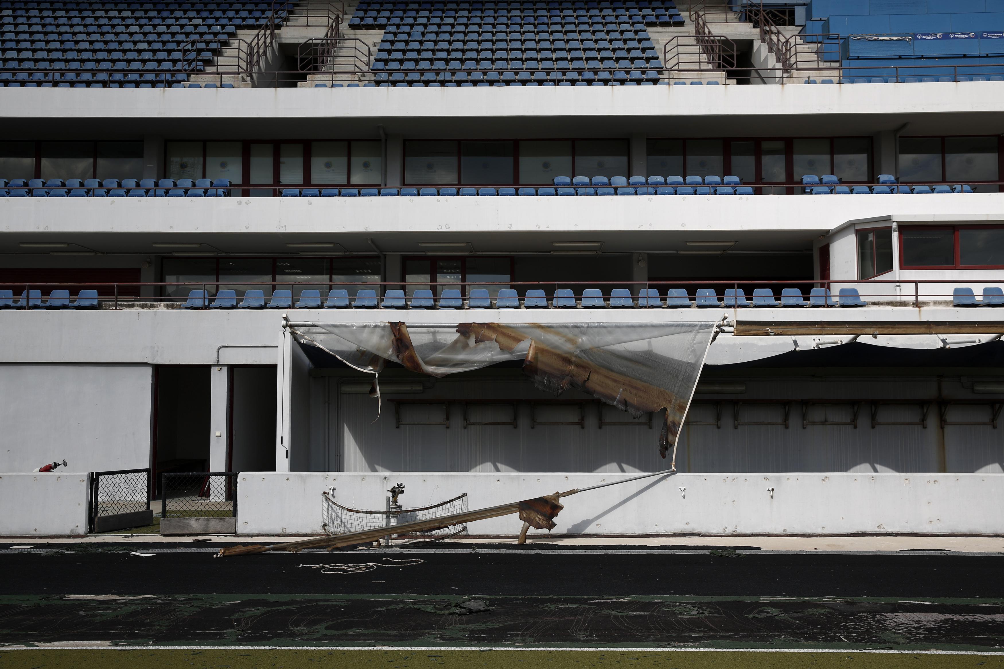 Lo stadio di hockey costruito a sud di Atene