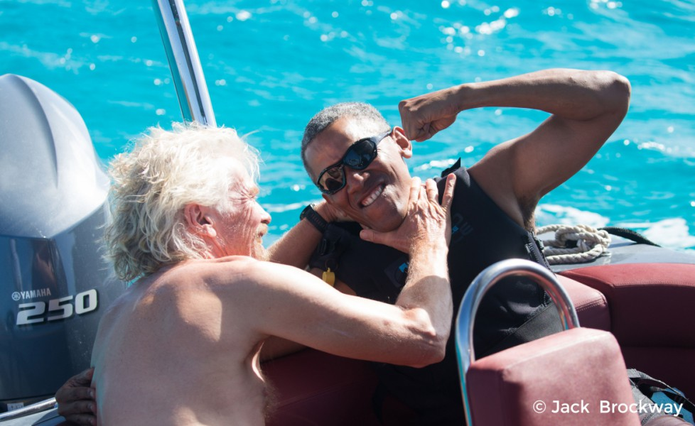 Casa Bianca Obama Richard Branson kitesurf