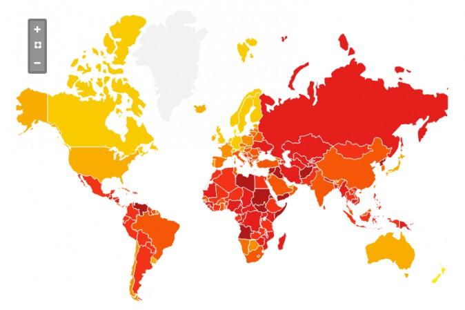 Corruzione ancora molto percepita, ma Italia migliora in classifica mondiale