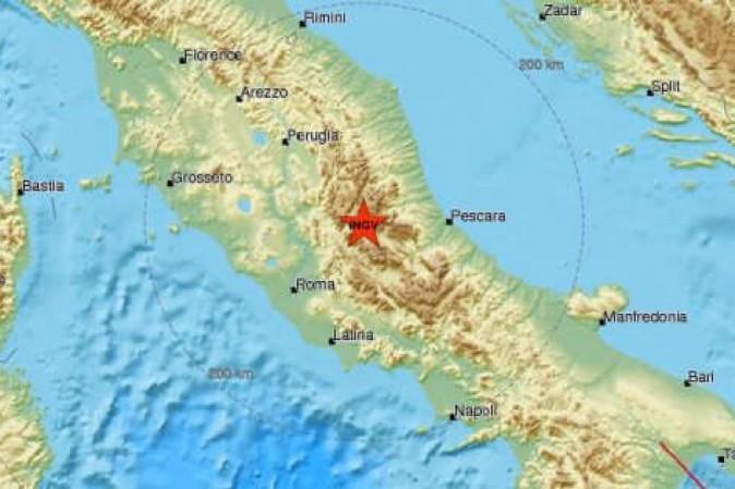 Terremoto: scossa da 5,3 gradi in Centro Italia, avvertita anche a Roma