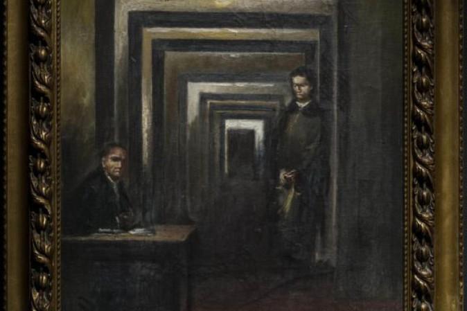 Quadro di Hitler al museo della follia