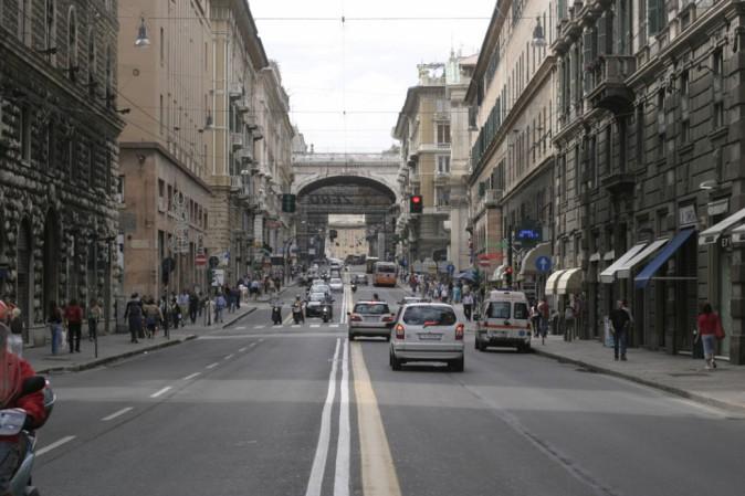Genova - Allarme bomba in via XX settembre