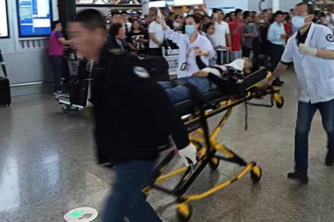 Cina, esplosione in aeroporto internazionale Pudong di Shanghai