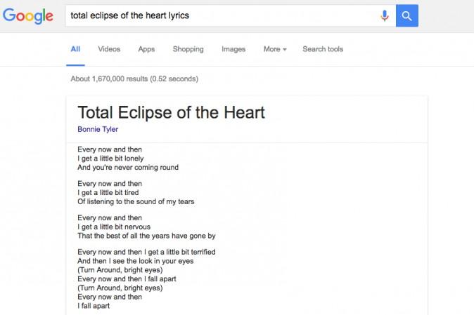 Google, testi delle canzoni nelle ricerche e Play Musica