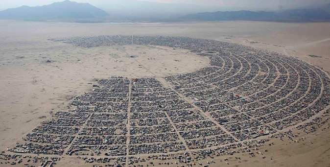 Il Burning Man, visto da un drone