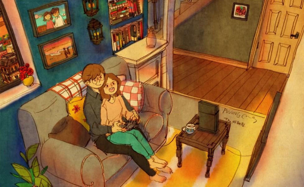 Disegna la vita di due innamorati: ecco l'amore nelle piccole cose