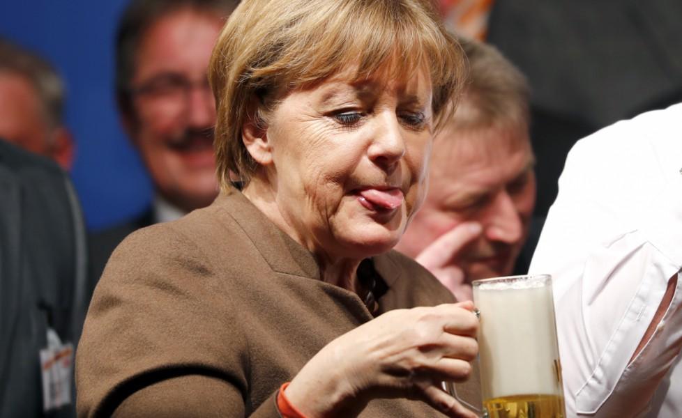 Risultati immagini per merkel birra