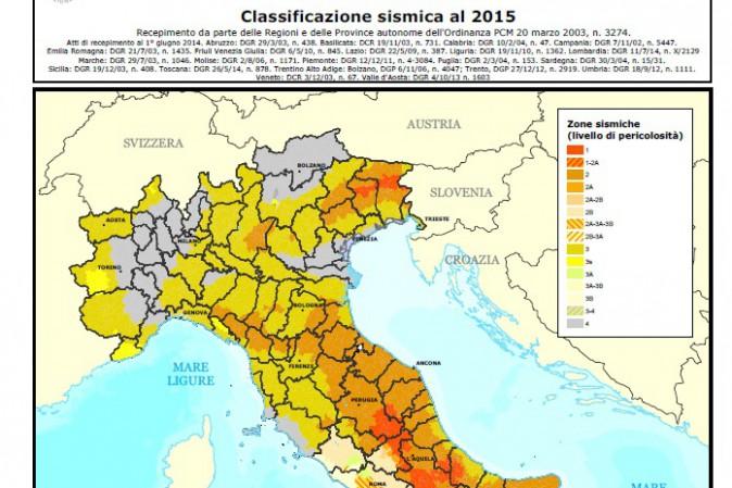 La mappa del rischio sismico in italia tpi for Rischio sismico in italia