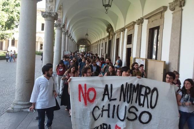 Università Statale, studenti in protesta: