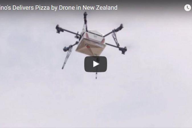 Domino's, pizza a domicilio in 10 minuti con i droni