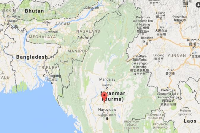 Violento terremoto (magnitudo 6.8) anche in Myanmar