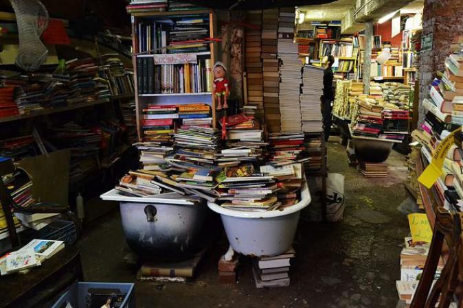 La libreria Acqua Alta a Venezia