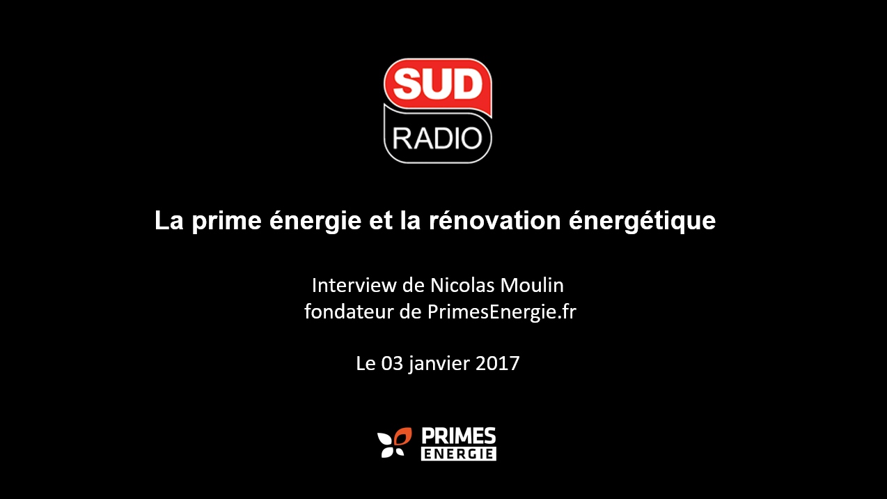 Les primes énergie dans Service Compris de Sudradio