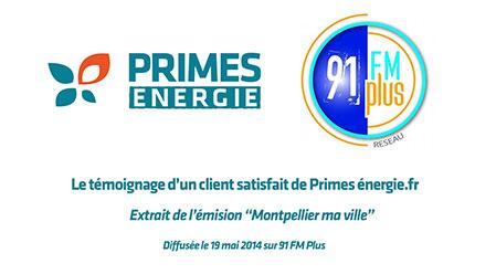 Client prime energie sur FM 91 Plus