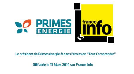 Primes énergie sur France info
