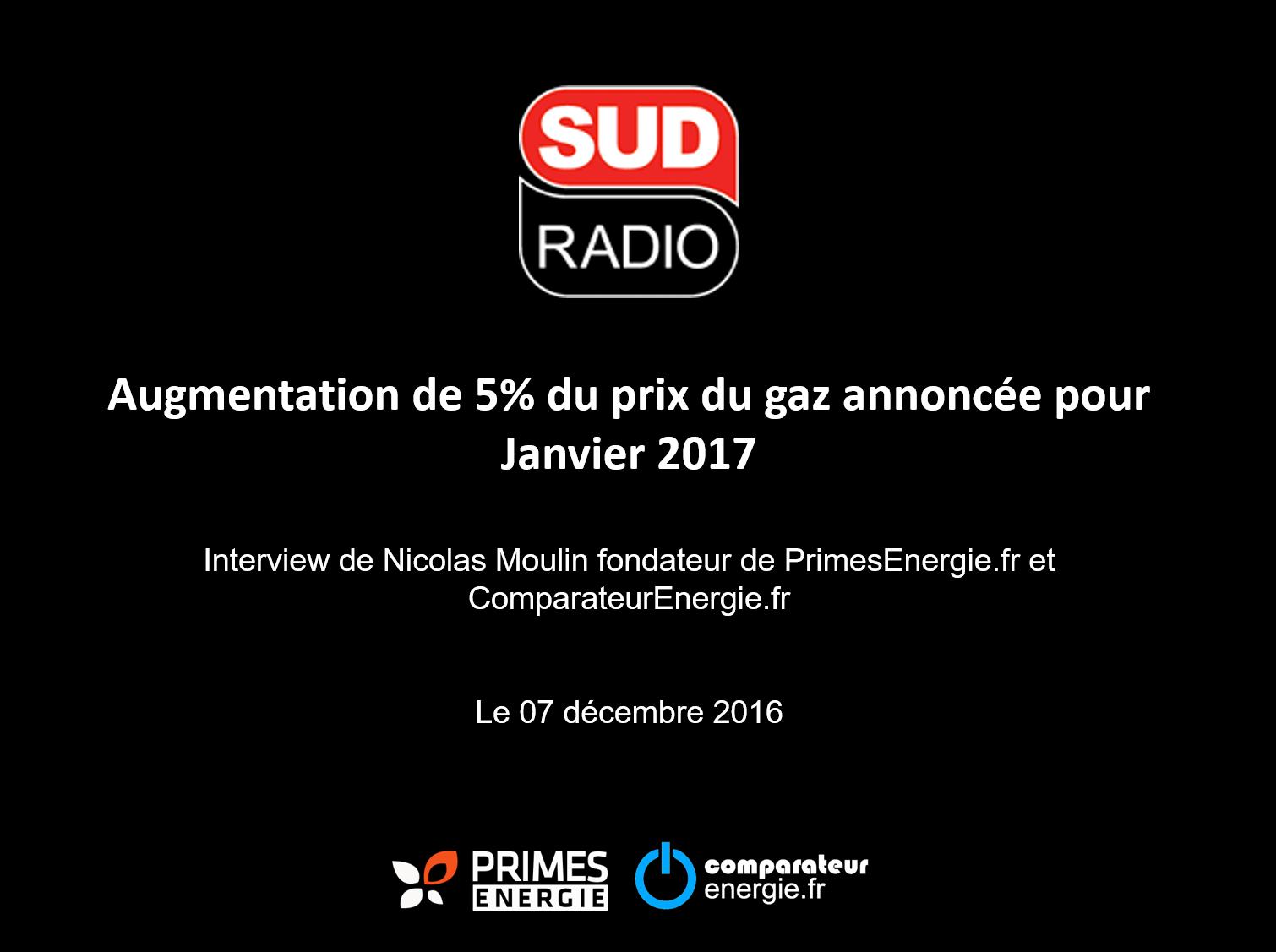 Primes énergie - Prix gaz - Sudradio - Comparateur énergie