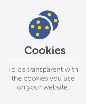 Declare any cookies you are using