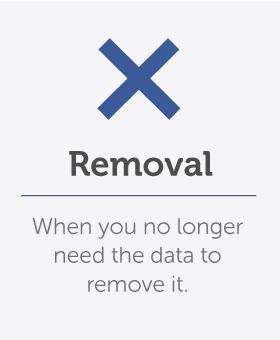 Remove information you do not need to store
