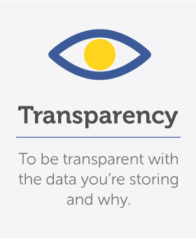 Transpatency about what you store