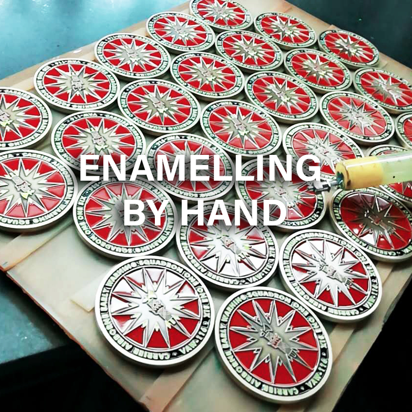 Enamelling by hand
