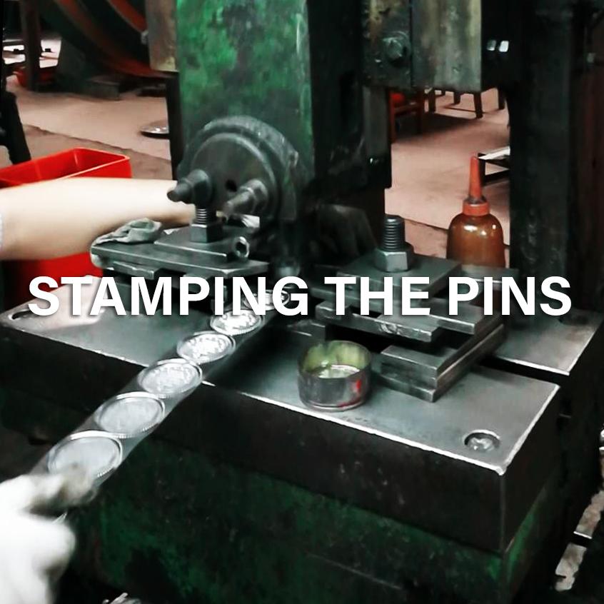 Stamping pins