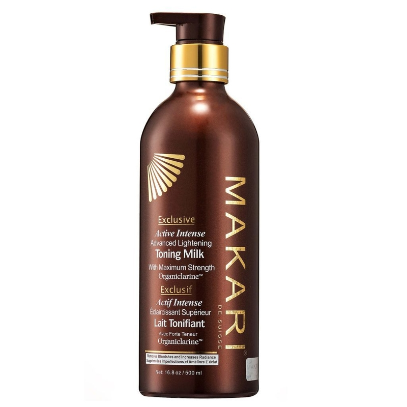 Makari Exclusive Skin Toning Milk 16.8oz – Lightening, Brightening & Toning Body Lotion with Organiclarine™ – Advanced Active Intense Whitening Treatment for Dark Spots, Acne Scars, Sun Patches,