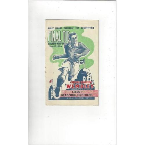 1947 Leeds v Bradford Northern Rugby League Challenge Cup Final Programme