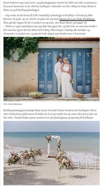 Celebrity Beach Wedding
