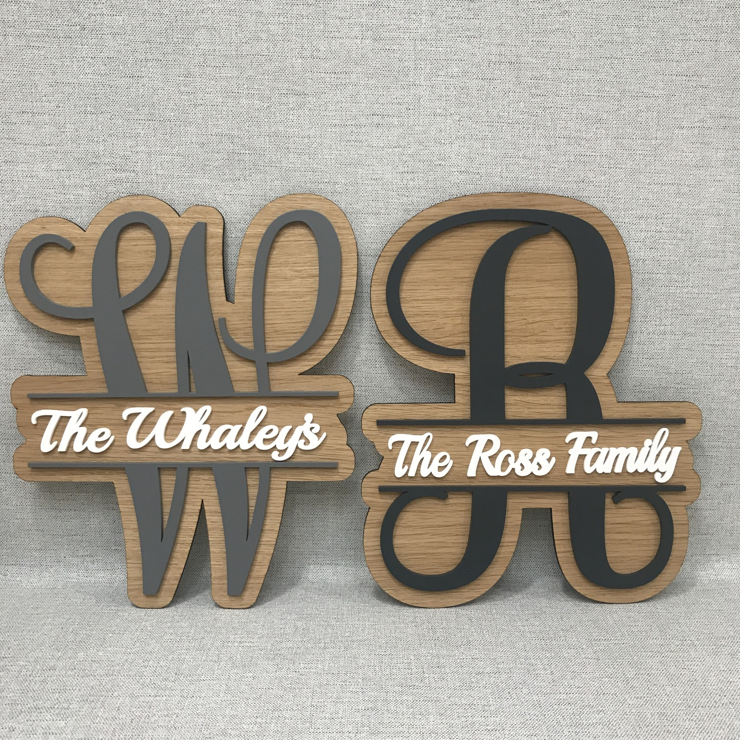 Family Name Monogram Crafty Monkey Unique Personalised Wedding Frames Personalised Children S Gifts Sports Medal Hangers Displays