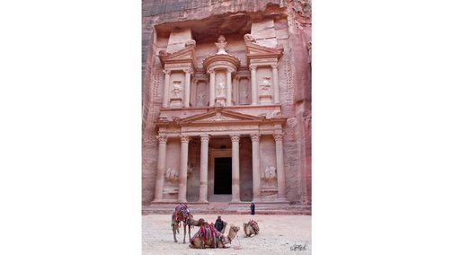 The Treasury with camels