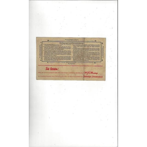 1938 Max Schmeling v Ben Foord in Hamburg Heavyweight Boxing Programme & Ticket