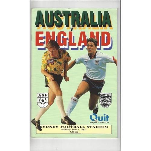 1991 Australia v England Football Programme
