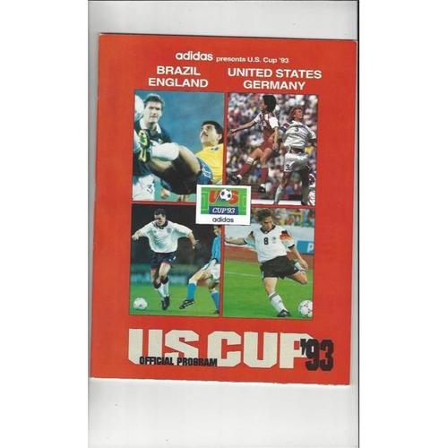 1993 USA v England US Cup Football Tournament Brochure + 3 Team Sheets