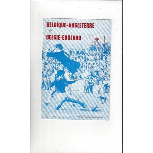 1970 Belgium v England Football Programme