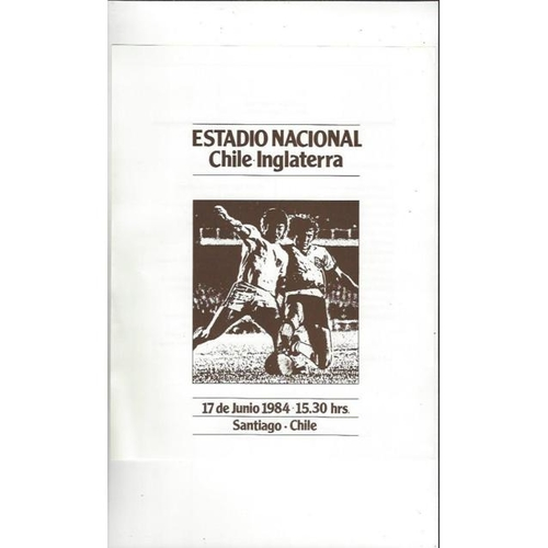 1984 Chile v England Football Programme