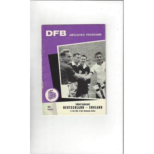 1965 West Germany v England Football Programme