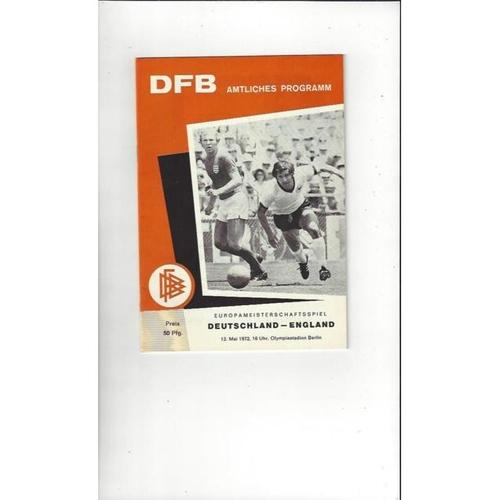 1972 West Germany v England Football Programme