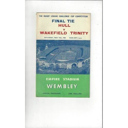 1960 Hull v Wakefield Trinity Rugby League Challenge Cup Final