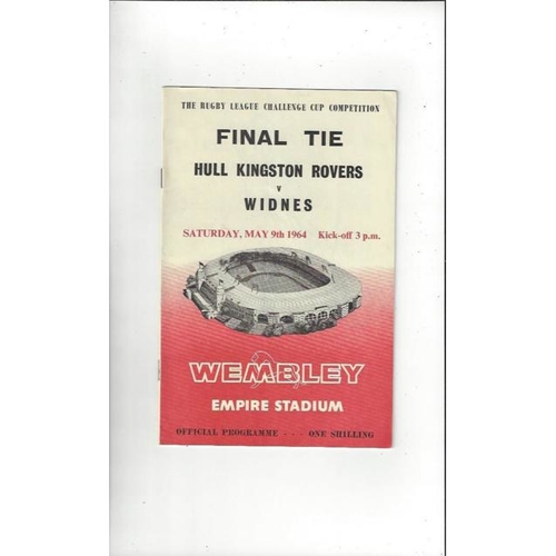 1964 Hull KR v Widnes Rugby League Challenge Cup Final